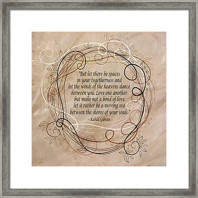 Togetherness Framed Print by Angelina Vick