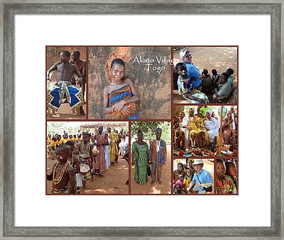 Togo Village In West Africa Collage Framed Print by David Smith