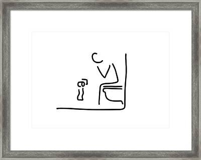 Toilet Digestion Irritant Bowel Framed Print by Lineamentum