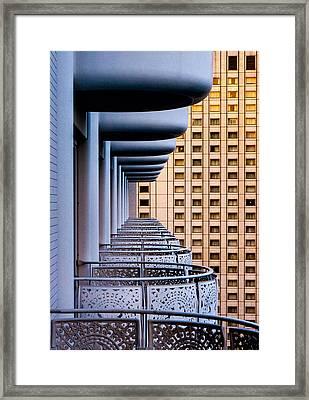 Tokyo Balconies Framed Print by Jay Heiser