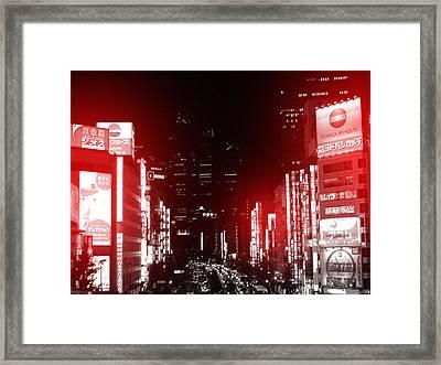 Tokyo Street Framed Print by Naxart Studio