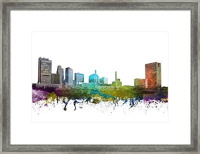 Toledo Cityscape 01 Framed Print by Aged Pixel