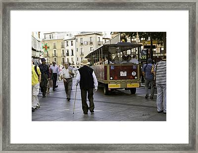 Toledo Man 2 - Spain Framed Print by Madeline Ellis