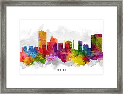 Toledo Ohio Cityscape 13 Framed Print by Aged Pixel