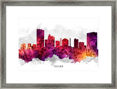 Toledo Ohio Cityscape 14 Framed Print by Aged Pixel