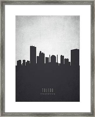 Toledo Ohio Cityscape 19 Framed Print by Aged Pixel