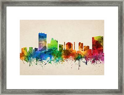 Toledo Ohio Skyline 05 Framed Print by Aged Pixel