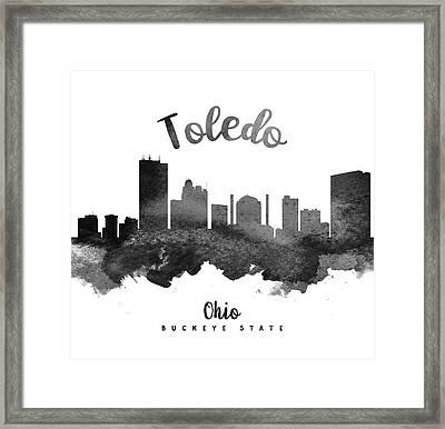 Toledo Ohio Skyline 18 Framed Print by Aged Pixel