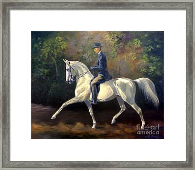 Tom Bass And Columbus Framed Print by Jeanne Newton Schoborg