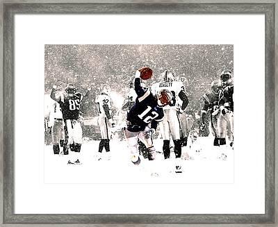 Tom Brady Touchdown Spike Framed Print by Brian Reaves