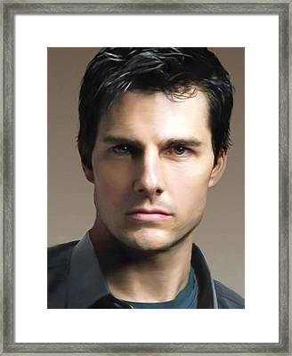 Tom Cruise Framed Print by Dominique Amendola