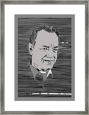 Tom Hanks Framed Print by Artist Singh