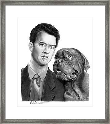 Tom Hanks Framed Print by Murphy Elliott