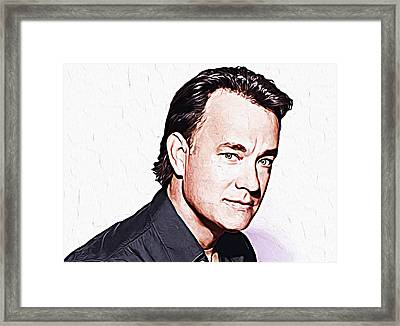 Tom Hanks Framed Print by Queso Espinosa