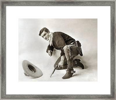 Tom Mix (1880-1944) Framed Print by Granger