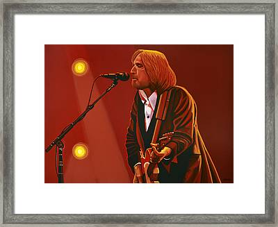 Tom Petty Framed Print by Paul Meijering