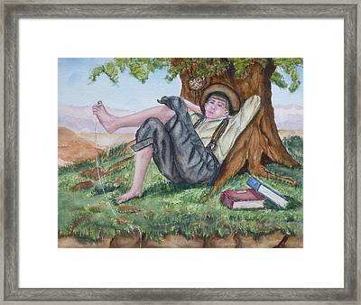 Tom Sawyer Adventures Framed Print by Kelly Mills