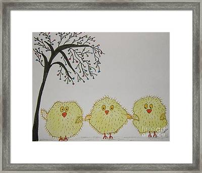 Tom Tad And Teddy Framed Print by Marcia Weller-Wenbert