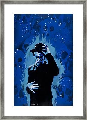Tom Waits Framed Print by Tai Taeoalii