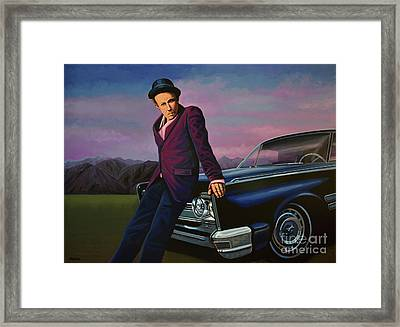 Tom Waits Framed Print by Paul Meijering