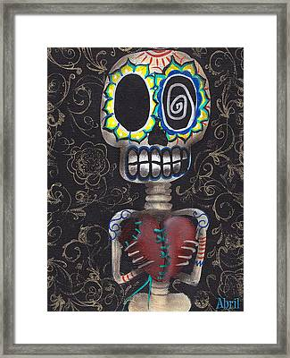 Toma Mi Corazon Framed Print by  Abril Andrade Griffith