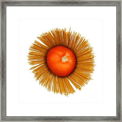 Tomato And Pasta Framed Print by Blink Images