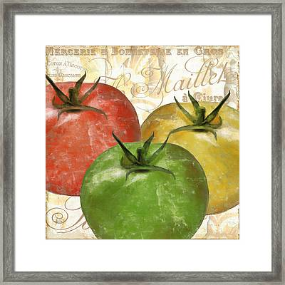 Tomatoes Tomates Framed Print by Mindy Sommers