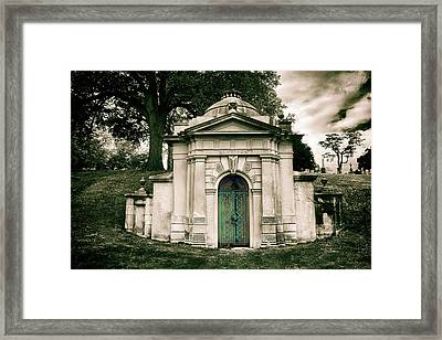 Tomb Of Woodlawn Framed Print by Jessica Jenney
