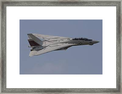 Tomcat Fly-by Framed Print by John Clark