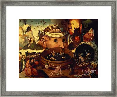 Tondals Vision Framed Print by Hieronymus Bosch