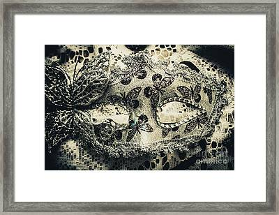 Toned Image Of Beautiful Festive Venetian Mask Framed Print by Jorgo Photography - Wall Art Gallery
