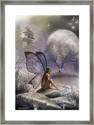 Tonight She Waits Framed Print by Crispin  Delgado