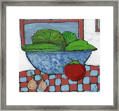 Tonight's Salad Framed Print by Wayne Potrafka