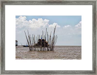 Tonle Sap Lake Scene Framed Print by Georgia Fowler