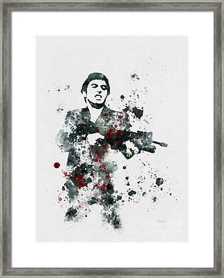 Tony Montana Framed Print by Rebecca Jenkins