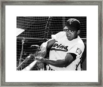 Tony Oliva Of The Minnesota Twins, 1967 Framed Print by Everett