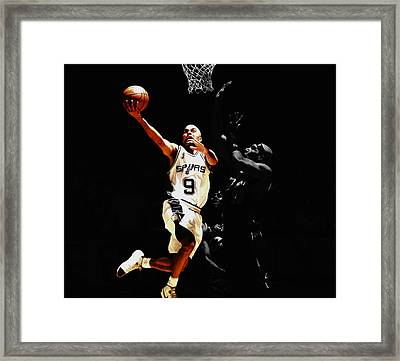 Tony Parker Left Hand Framed Print by Brian Reaves