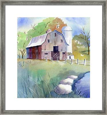 Tony's Barn Framed Print by Marsha Elliott