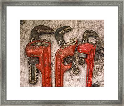 Tools Of The Trade Still Life Framed Print by Randy Steele