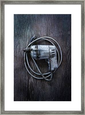 Tools On Wood 30 Framed Print by YoPedro