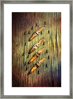 Tools On Wood 46 Framed Print by YoPedro