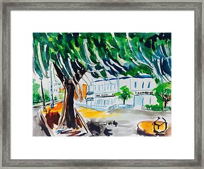 Toomer's Corner Framed Print by Hae Kim