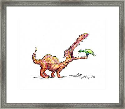 Toothache Framed Print by Mark Johnson