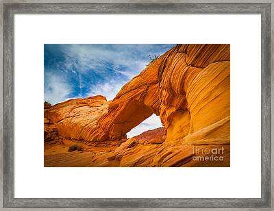 Top Arch Framed Print by Inge Johnsson