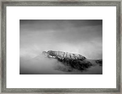Top Of Mount Rundle II Framed Print by Jon Glaser