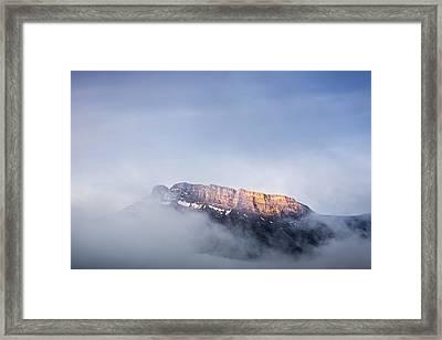 Top Of Mount Rundle Framed Print by Jon Glaser