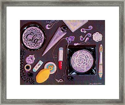Top Of My Vanity Framed Print by Jenny Elaine