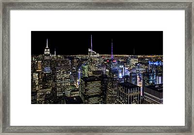 Top Of The Rock Framed Print by Chris Austin