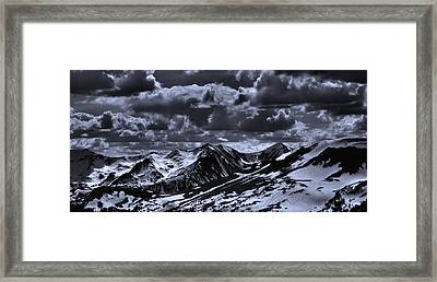 Top Of The Rocky Mountains From Trail Ridge Road Framed Print by Dan Sproul