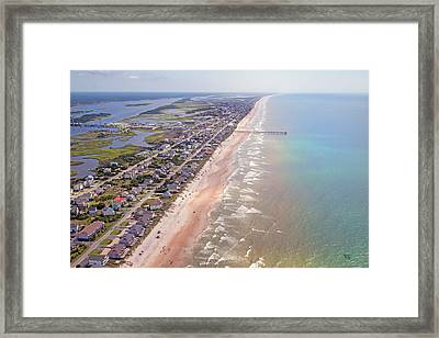 Topsail Buzz Surf City Framed Print by Betsy C Knapp